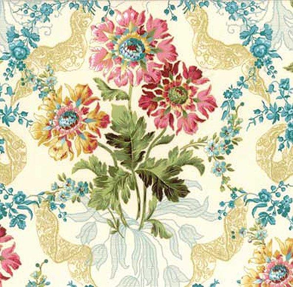 Hoffman Fabrics Jenny Jane Parchment N7504 134G