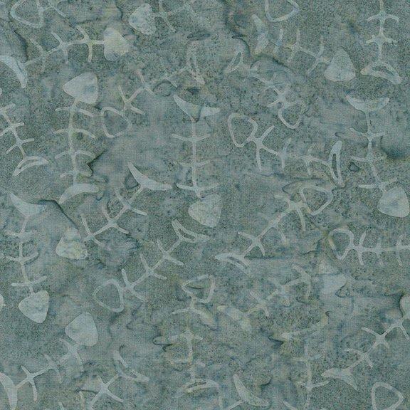 Island Batik - Feline Fine - Fish Bones - Glacier 621806705