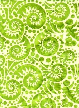 Batik Textiles - Dots Are Sew Fun - Fiddlehead 3209 Lime