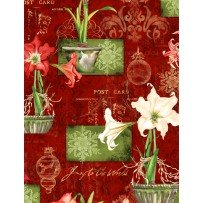 Wilmington Prints Christmas in Bloom 33796