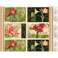 Wilmington Prints Christmas in Bloom 33794 Panel Placemats