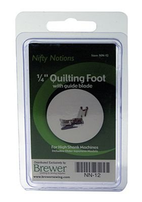 Nifty Notions Foot 1/4 Quilting with Quilt Guide Low Shank NN-21
