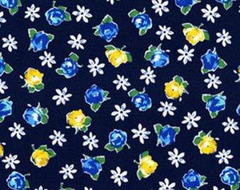 Michael Miller Fabrics Retro Rose Indigo 5680-indi