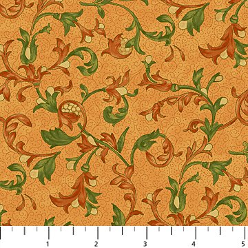 Northcott Studio Euphoria Scroll Orange 21305 58