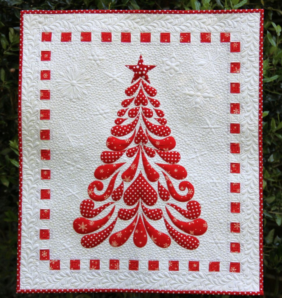 Feathered Christmas Batik Tree Kit by Cherry Blossoms