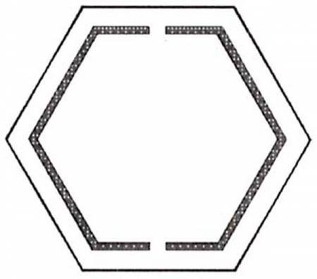 Hexagons Piecing Pal Templates X 4