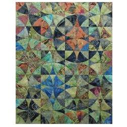 Benartex Bali Prints Wheel of Mystery Quilt Kit 40 X 50