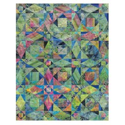 Benartex Bali Prints Storm At Sea Quilt Kit 40 X 52