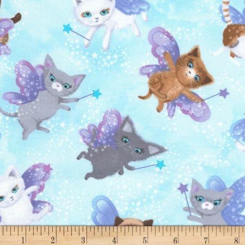 Timeless Treasures Fairy Cats