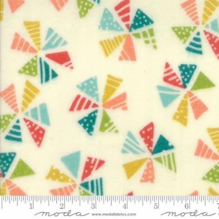 Moda Mixed Bag Pinwheels Cloud Multi 33200 11F Flannel