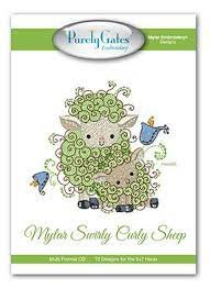 Purely Gates Embroidery Mylar Swirley Curley Sheep mscs04