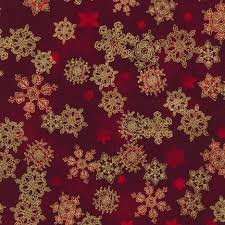 Winters Grandeur Snowflakes on Red