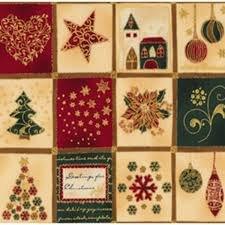 Stof Brilliant Christmas Squares