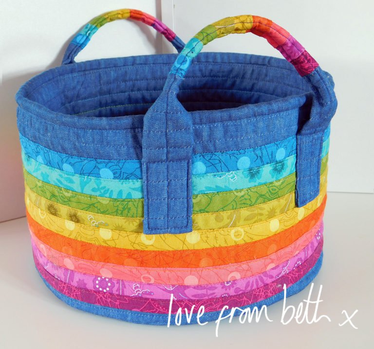 Rainbow Basket by Love from Beth