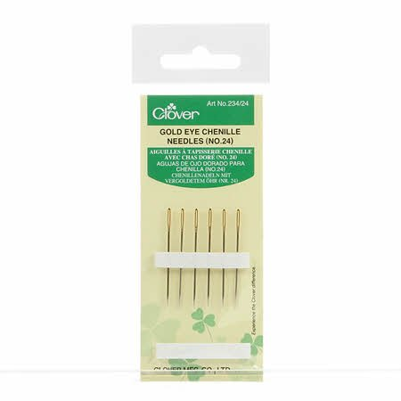 Clover Gold Eye Chenille Needle #24