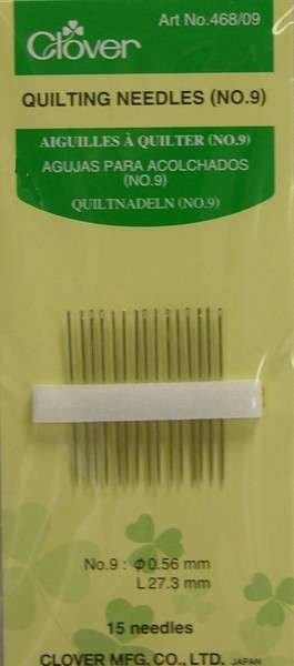 Clover Quilting Needles No 9