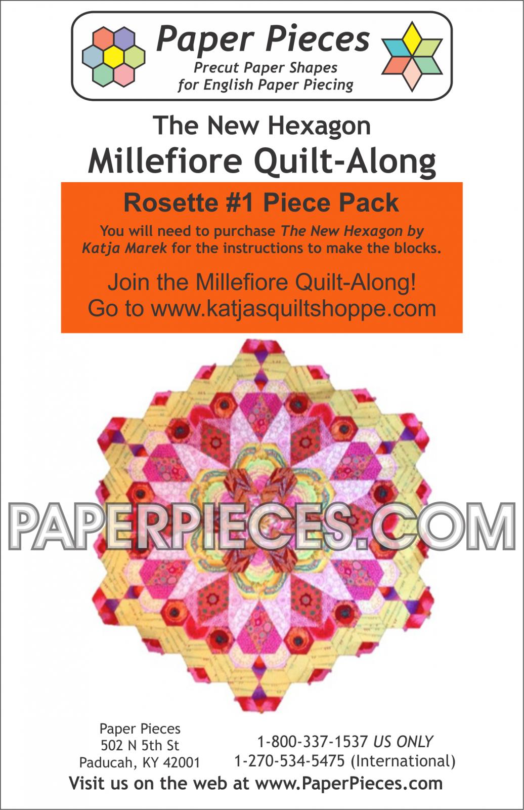 Katja Mareks' Millefiore Quiltalong Paper Piece Packs