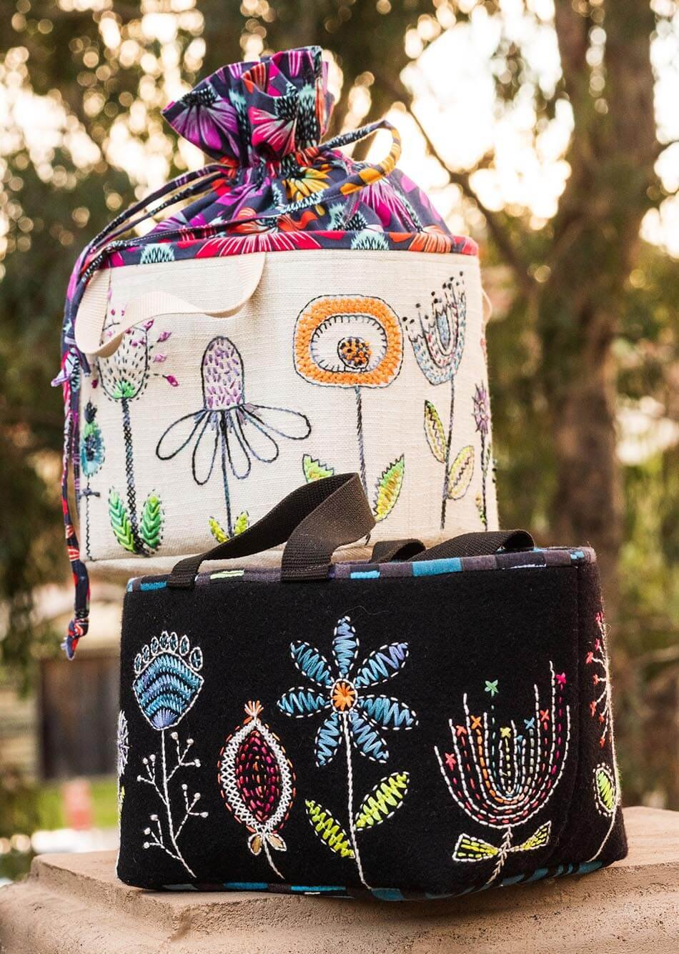Embroidered Sewing Bag Pattern