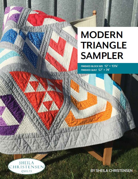Modern Triangle Sampler Block of the Month