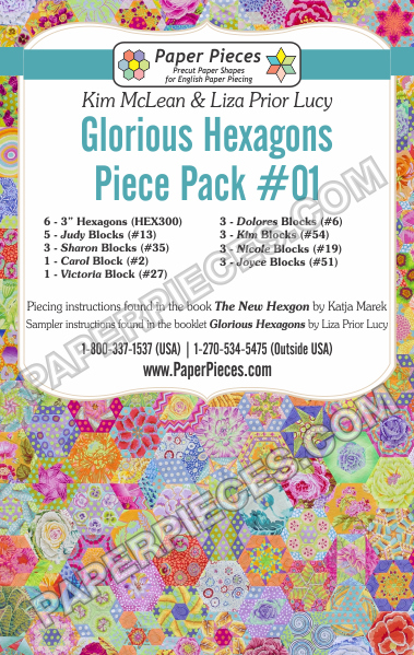 Glorious Hexagons Quiltalong Paper Piece Packs