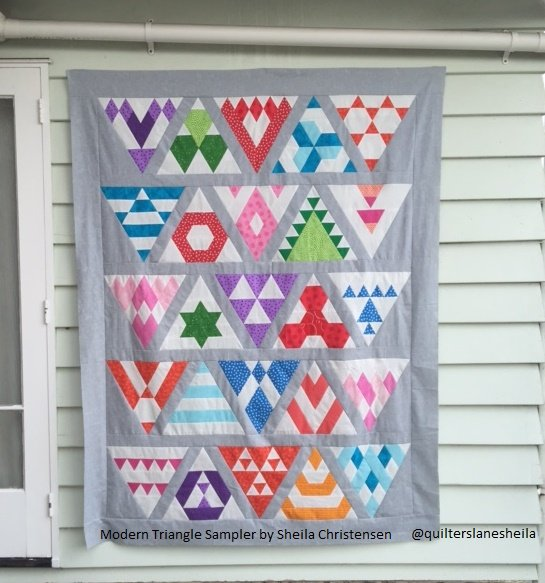 Modern Triangle Sampler Block of the Month Deposit