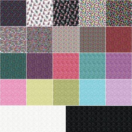 Cat-i-tude Jelly Roll 40 strips 2 1/2 wide