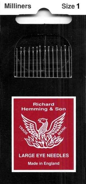 Richard Hemming Milliners Needles Size 1