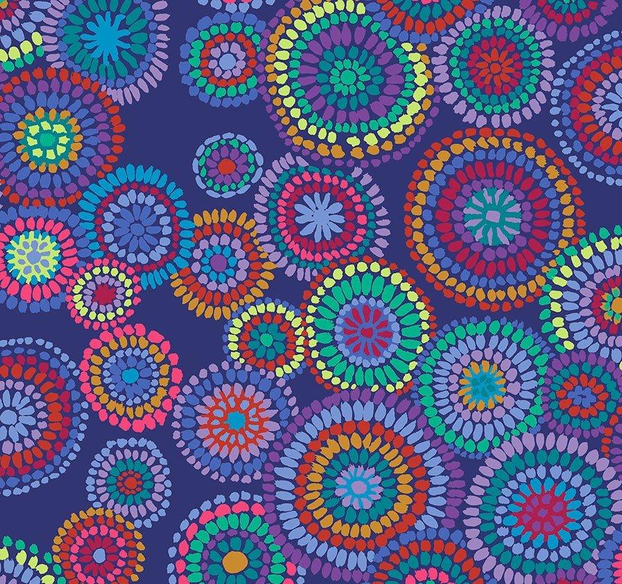 Mosaic Circles - Blue
