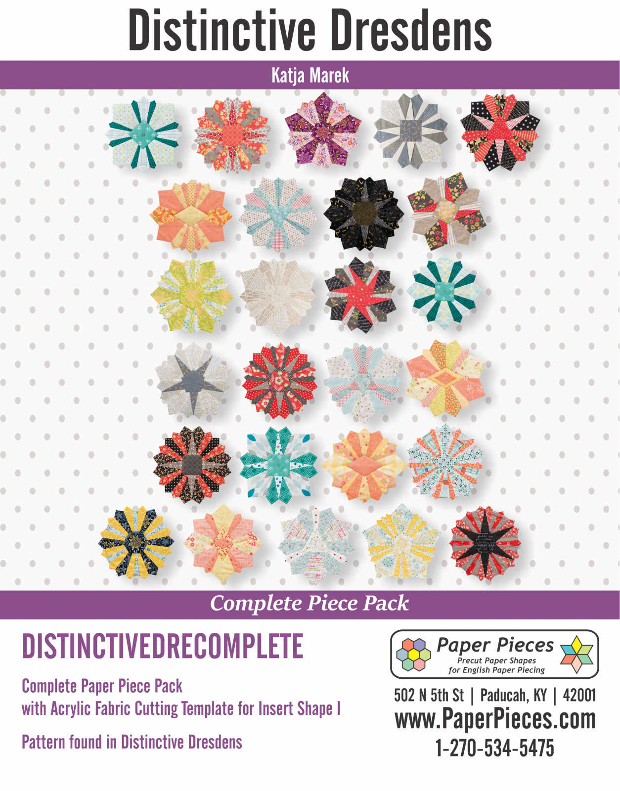 Distinctive Dresdens Complete Paper Pack and Acrylic Template I