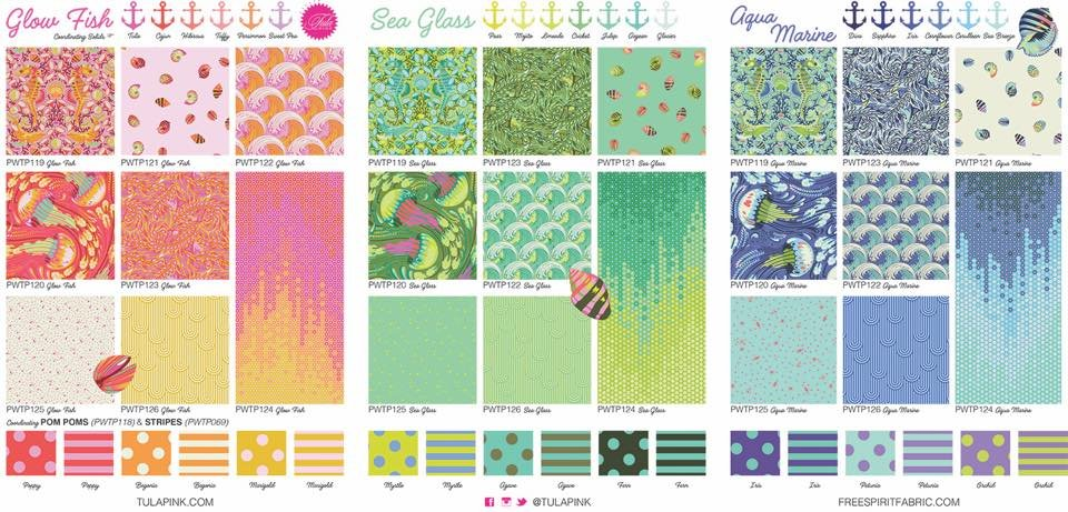 Bundle: Zuma Glow Fish 8 fat quarters