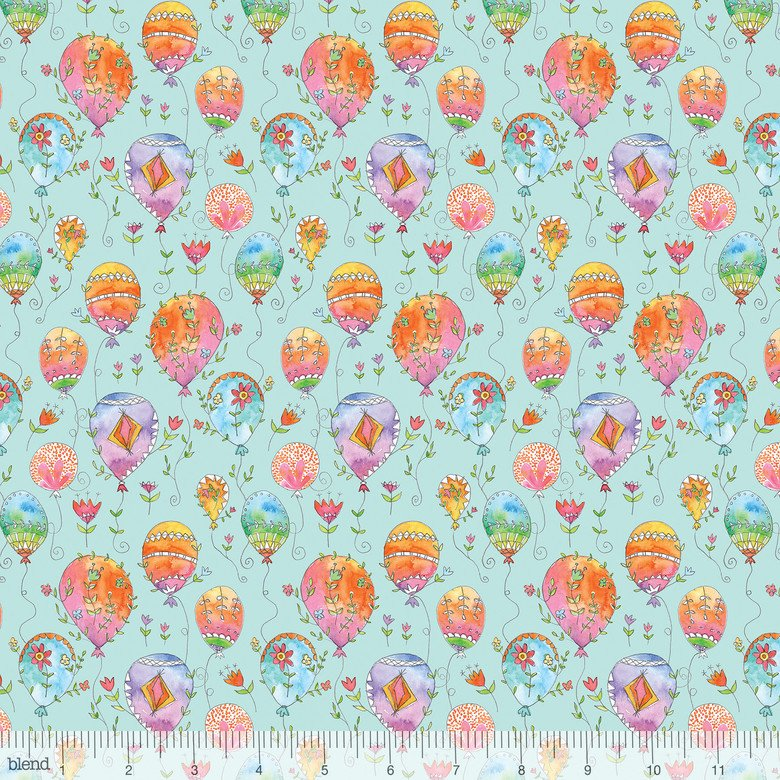 Blend Fabric 113.115.02.1 waltz of whimsy Charmed Aqua