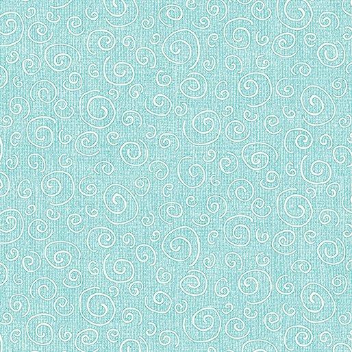 Benartex Fabric Joey the Shop Dog 01448-24 CURLS LIGHT AQUA