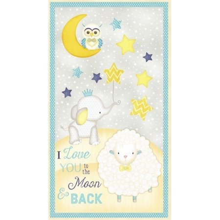 Wilmington 7510-964 To the Moon and Back~Panel 24 x 44 Flannel