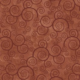 Quilting Treasures 1649-24778-T TERRACOTTA -HARMONY - COTTON CURLY SCROLL