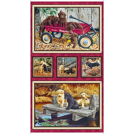 Quilting Treasures 1649-26649-X LABRADOR PICTURE PATCH 24 Panel LABRADOR-ABLE