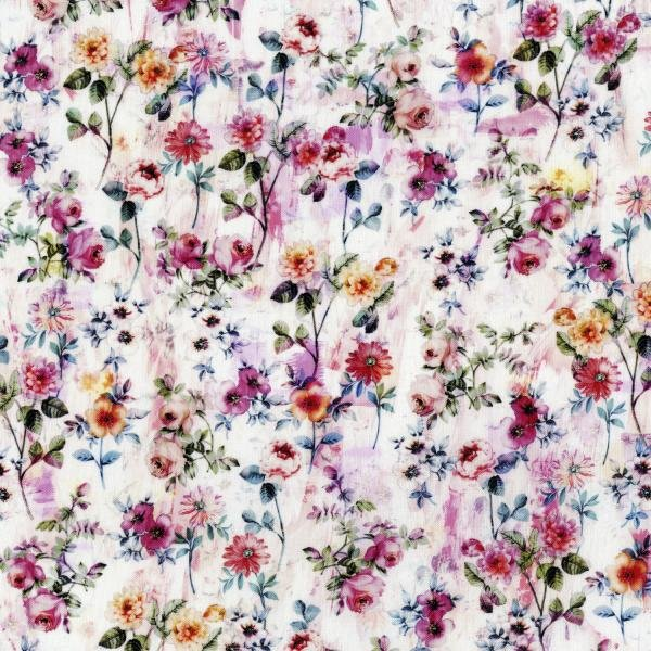 RJR 3541-001 Fleur Couture - Georgette - Blush Digiprint Fabric