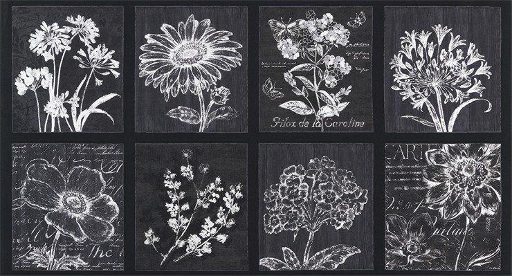 Robert Kaufman AFD-17057-293 SMOKE 24 Panel-Botanical Beauty 2.