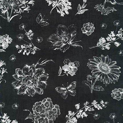 Robert Kaufman AFD-17058-293 SMOKE-Botanical Beauty 2.