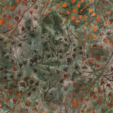 Robert Kaufman AMD-16829-49 OLIVE Batiks-Cornucopia 9