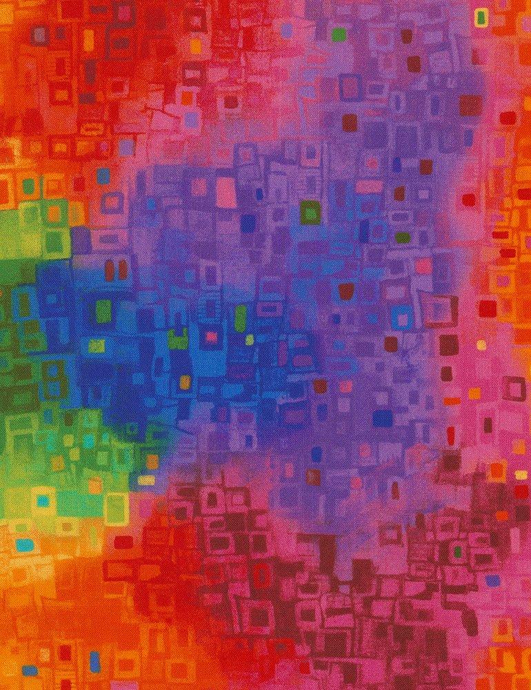Timeless Treasures CD6555-Bright -Abstract Geo Awaken-