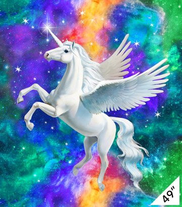 Northcott  DP22563-44  Unicorn Pagasus Panel 49 x 45- Artisan Spirit Imagine
