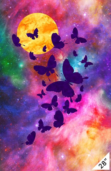 Northcott DP22564-84 Artisan Spirit Butterfly Imagine 28 Panel