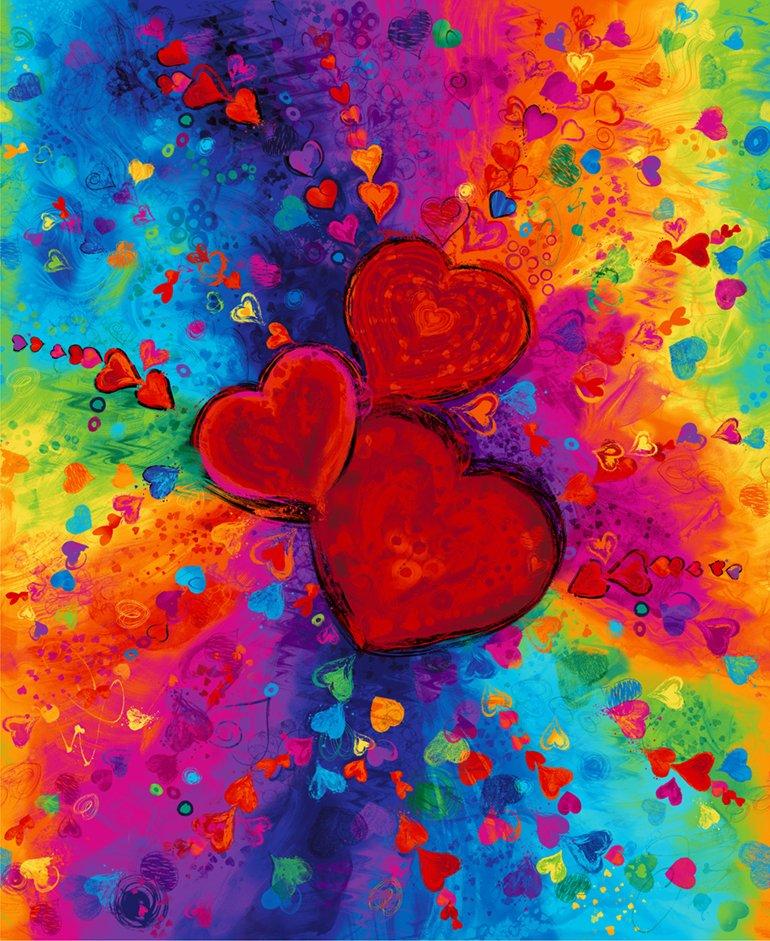 Timeless Treasures CD6661 Heart Bright
