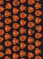 Henry Glass & Co Toil & Trouble 6398-99 Black w/orange Pumpkins - copy