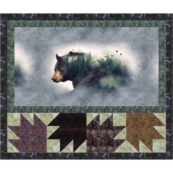 Call Of The Wild Bear Kit Wall hanging 55 x 52