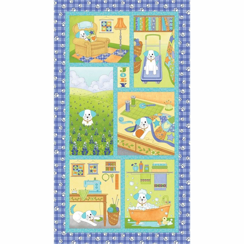 Blank Quilting Joey the Shop Dog Panel 01445-50 Panel