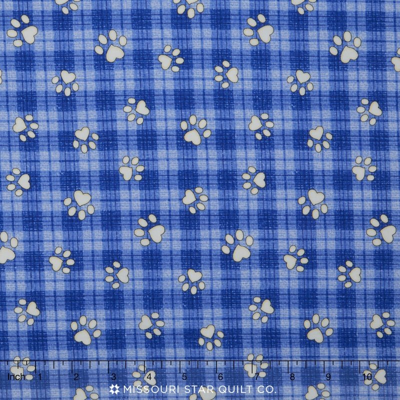 Blank Quilting Joey the Shop Dog 01449-50 PAWS BLUE