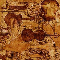 ENCORE INSTRUMENT SILHOUETTES 1649-27017-T Quilting Treasures