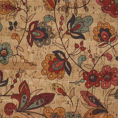 Amazon Flower Cork Fabric by Brewer TPR 0-1