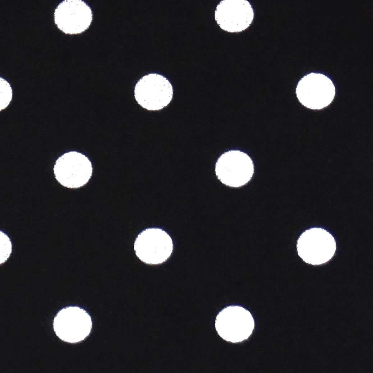 16 Toweling White Polka Dot on Black